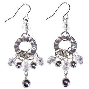 Jewelry - Silver Tone Bead Tassel Earrings